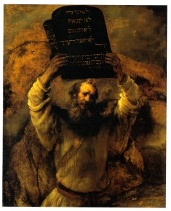 Moisés prestes a quebrar as tábuas da lei